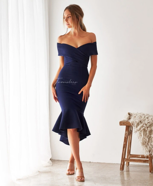 The Brienne Dress Navy by Two Sisters the Label