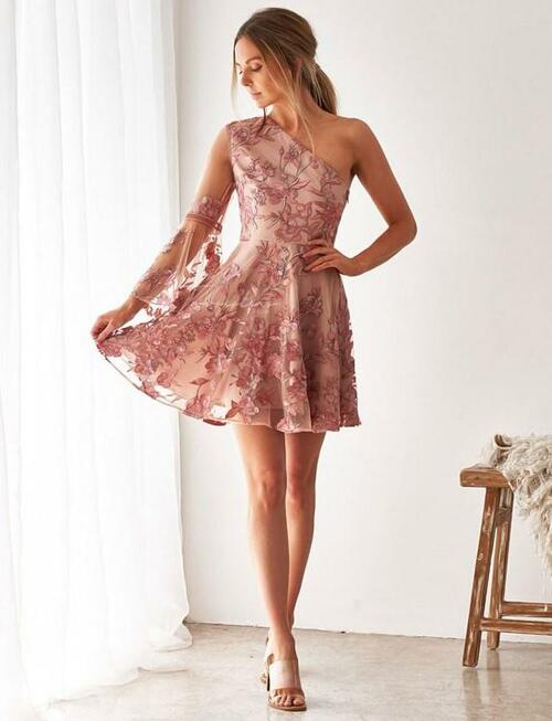 The Davina dress - Embroidery Rose/ Pink Two sisters the label floral dress.