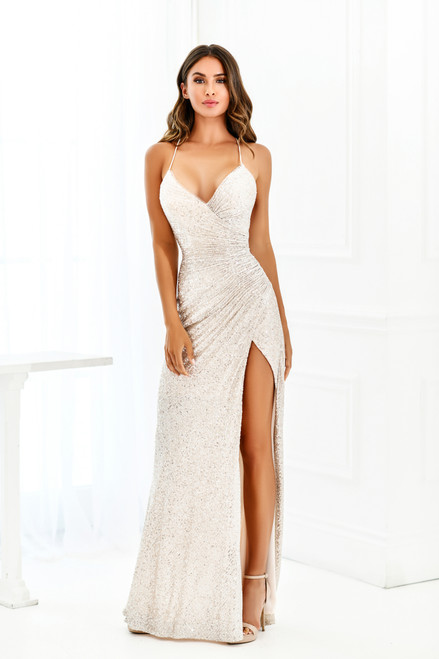 Eclipse Gown - Platinum Silver - Lady Black Tie