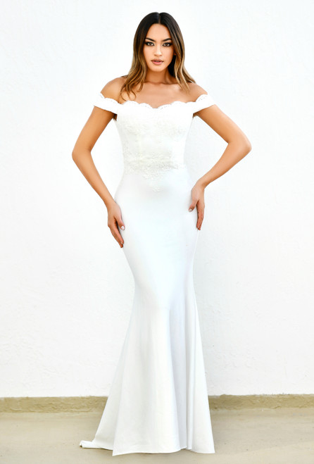 Helena Gown - Fitted - white
