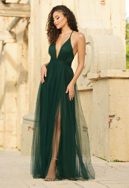 Sydney Tulle Maxi Dress - Emerald