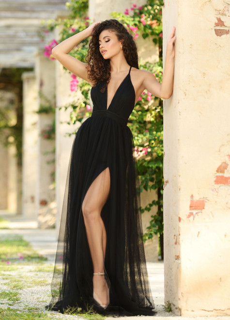 Sydney Tulle Maxi Dress - Black