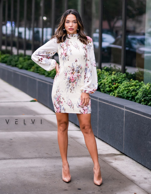 Evelyn Dress - Lemon Floral - Velvi, Lady Black Tie