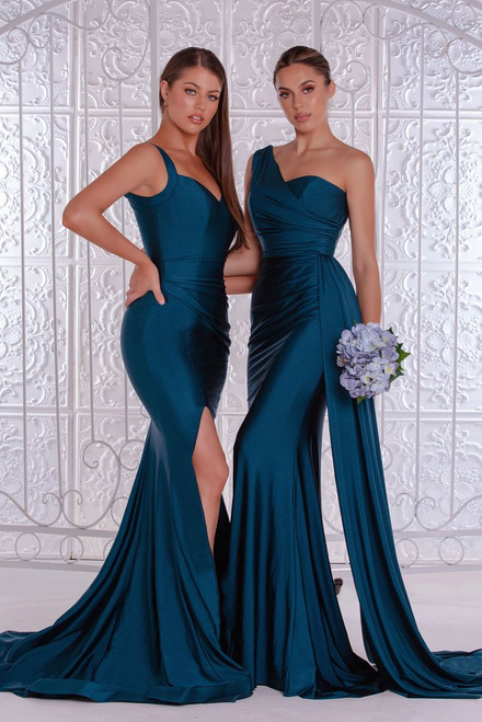 PS6321 Teal by Portia & Scarlett Lady Black Tie