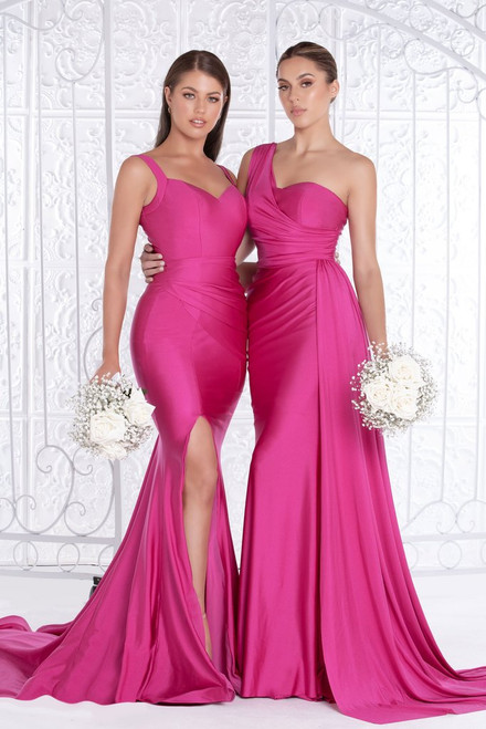 PS6321 Fuchsia by Portia & Scarlett Lady Black Tie