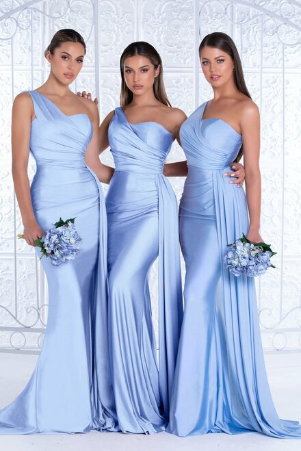 PS6321 Powder Blue by Portia & Scarlett Lady Black Tie
