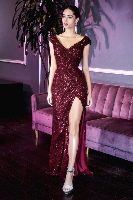 moscow gown burgundy from lady black tie