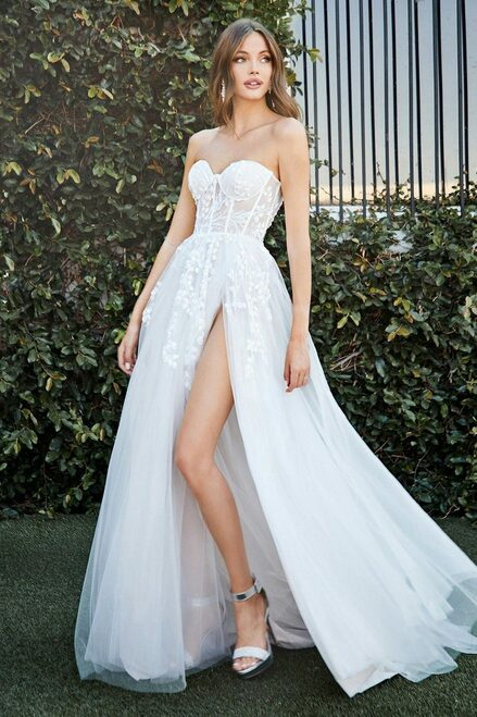 Solaine Gown, wedding gown, lady black tie