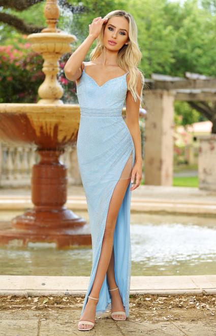 Trixi Gown - Light Blue. Lady Black Tie