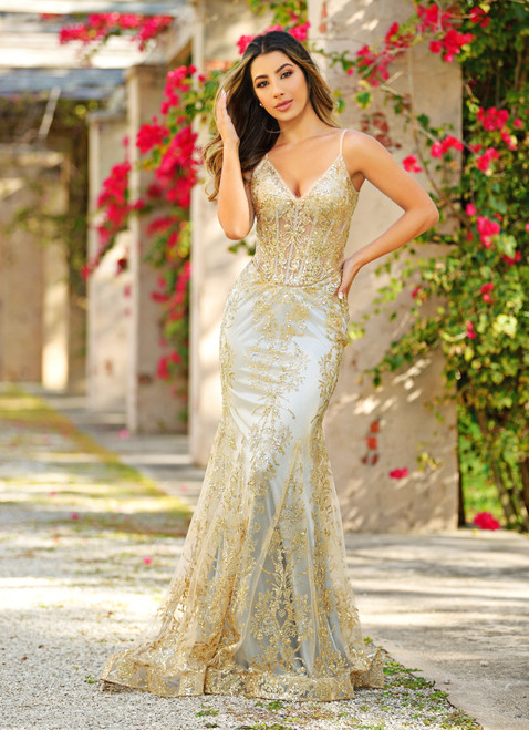 lyra gown - gold mist