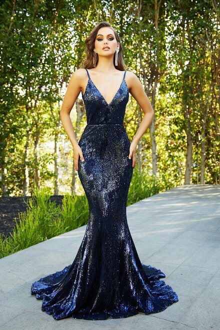 PS21287 - NAVY- by Portia & Scarlett Lady Black Tie