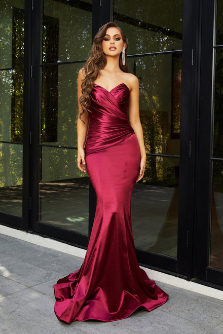 PS21279 - BURGUNDY - by Portia & Scarlett Lady Black Tie