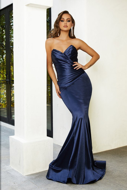 PS21279 - Navy - by Portia & Scarlett Lady Black Tie