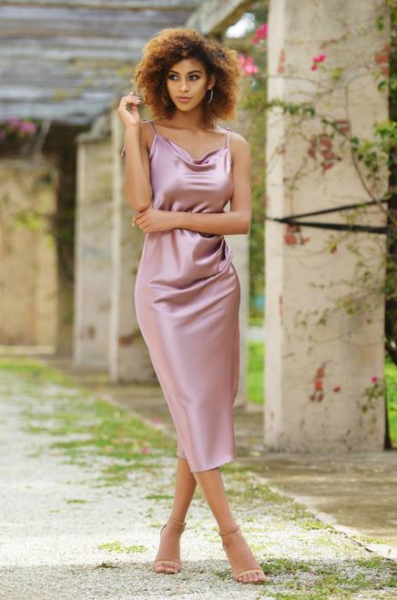 Lorena Dress- Mauve - Lady Black Tie