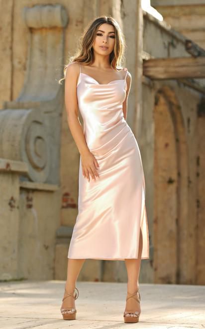 Lorena Midi Dress - Dusty Rose - Lady Black Tie