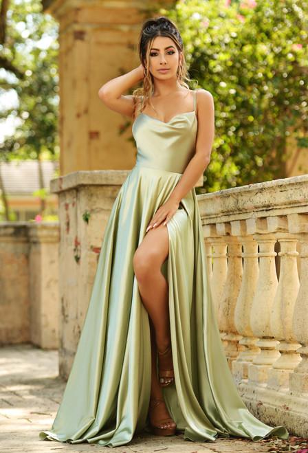 Lottie gown - SAGE