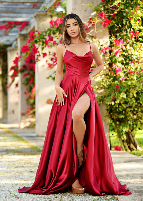 lottie gown - burgundy