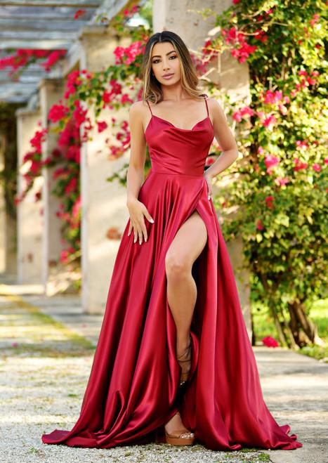 lottie gown - burgundy. L