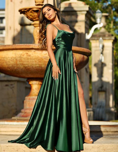 Lottie Gown - Emerald - Lady Black Tie