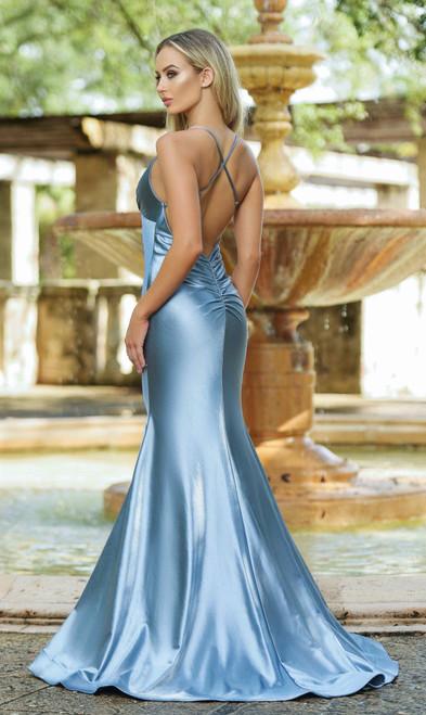 Odette Gown Dusty Blue