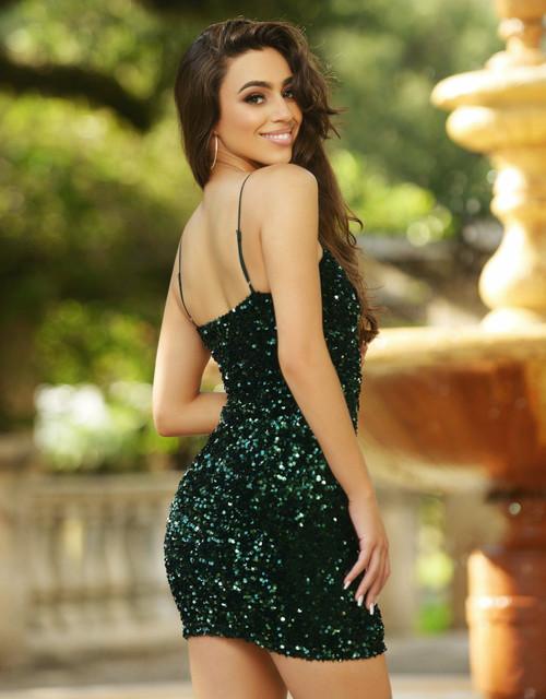 Juliette Sequin Mini - Emerald - Lady Black Tie - Velvi