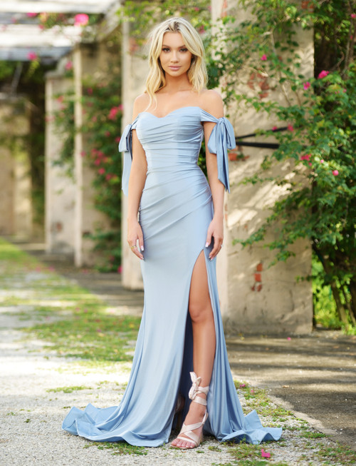 Amber Gown - Dusty Blue