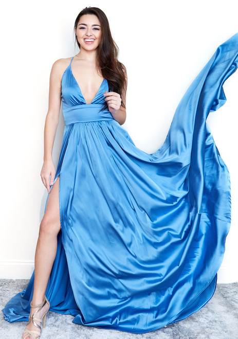 The Madeline Gown by René in sky blue