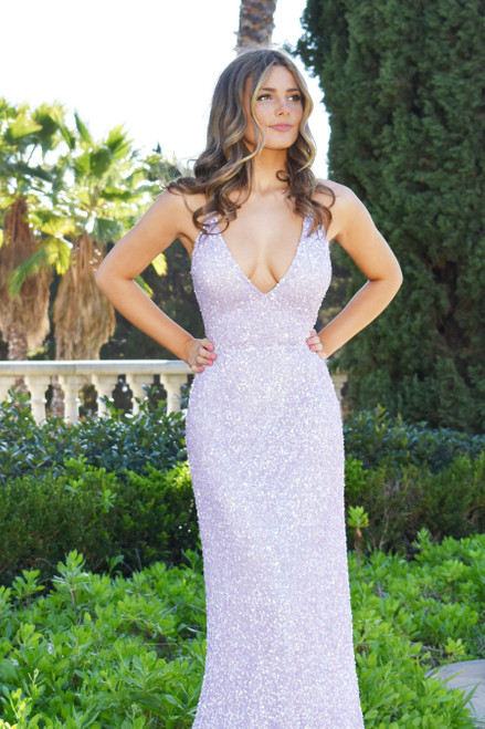 The Maldives Gown in lilac by Rene the Label