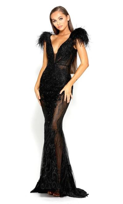The Fufu Gown Style 1986 Portia & Scarlett in black