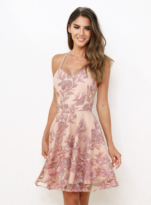 Sassy Dress in Embroidery Rose by Two Sisters the Label