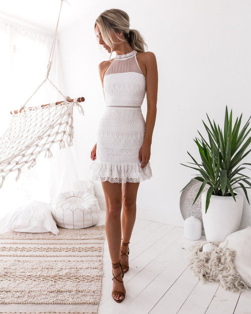The Vicky Dress White by Two Sisters the Label