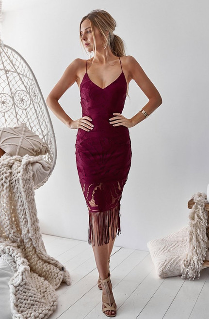 Khaleesi Dress in Mulberry by Two Sisters the Label