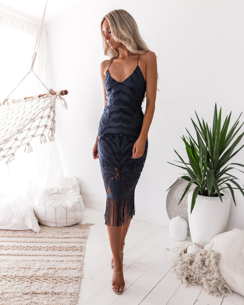 Khaleesi Dress in Steel Blue by Two Sisters the Label