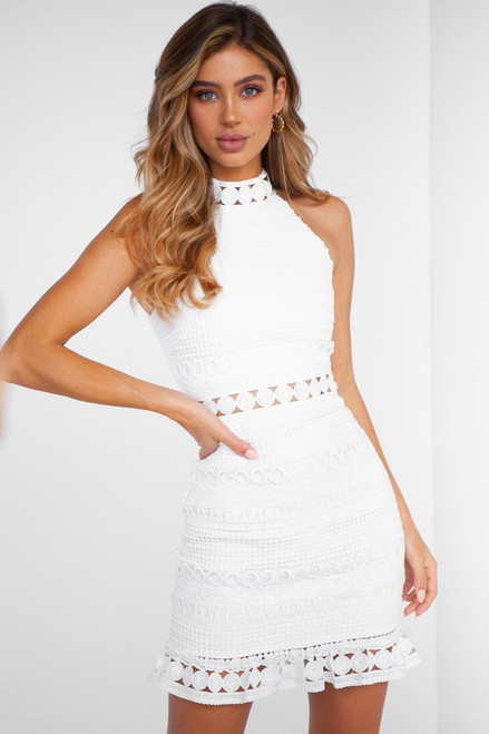 Rivers Mini Dress in White, Two Sisters the Label