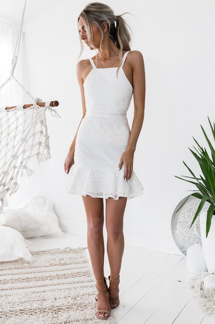Shona Dress in White - Two Sisters the Label