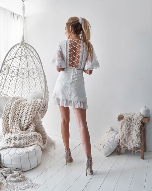 The Jennie Dress in White by Two Sisters the Label.