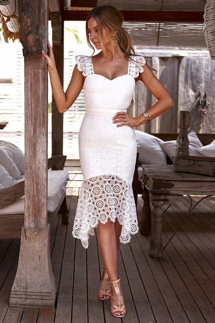 The Giselle Dress in White by Two Sisters the Label