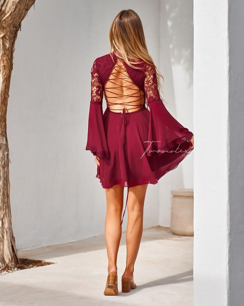 The Paige Dress, RED, Two Sisters the Label