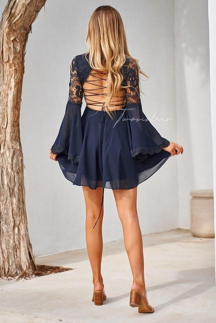 The Paige Dress - Navy by Two sisters the Label