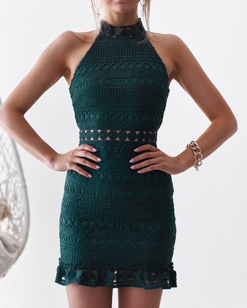 Rivers Mini Dress in emerald - Two Sisters the Label