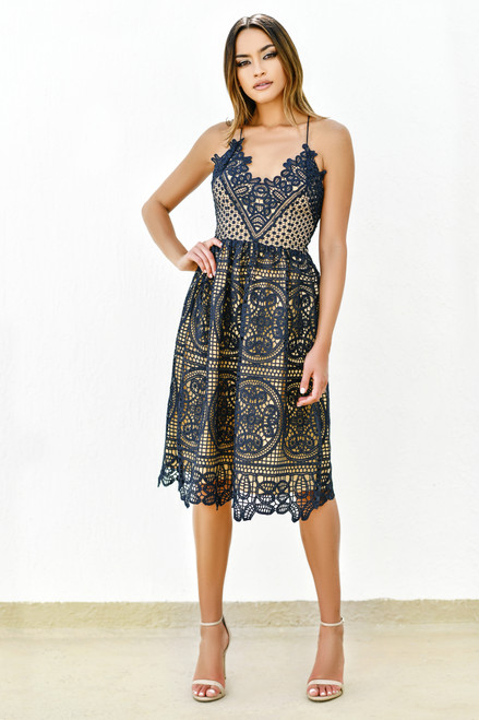 The Annabelle dress in Navy by Two Sisters the Label - LADY BLACK TIE