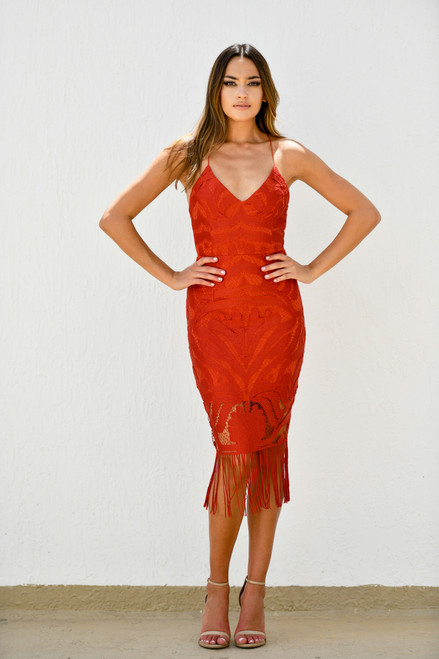 The Khaleesi Dress in Burnt Orange, Two Sisters the Label, Lady Black Tie