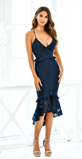 The Abby Dress in Navy by Two Sisters the Label