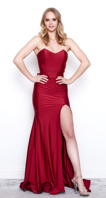 Gabriela Strapless Gown with Slit