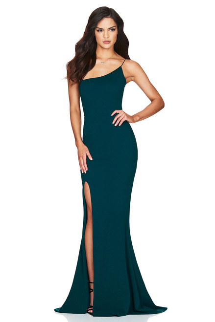 Jasmine One Shoulder Teal Gown by Nookie from Lady Black Tie