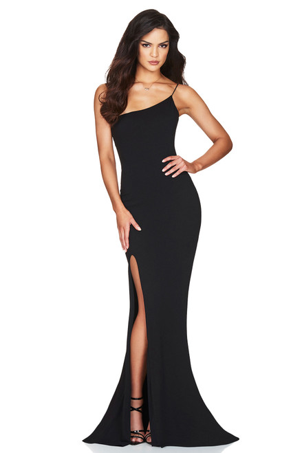 Jasmine One Shoulder Black Gown by Nookie from Lady Black Tie