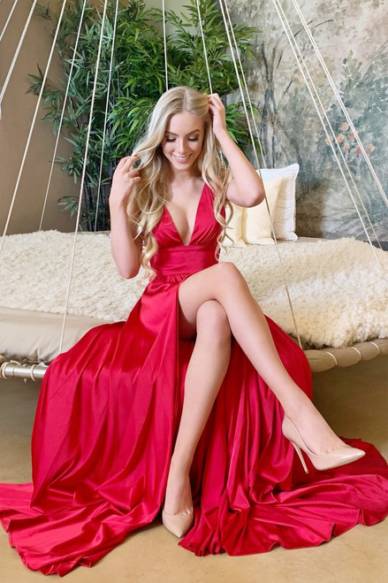 The Madeline Gown in Red by rene