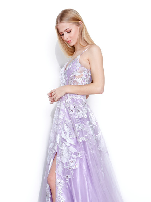 Style 7860 Lilac by Vienna Prom from Lady Black Tie