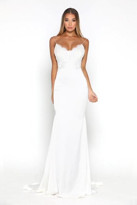The Valentina Gown White by Portia & Scarlett from Lady Black Tie