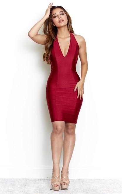 Kylie Mini Dress - Beet Red - 6309 Atria Short Dress